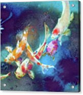 Garland Of Koi Fishes Acrylic Print