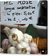 Garlic And Dried Apricots For Sale Acrylic Print