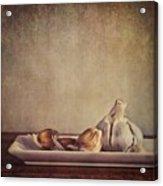 Garlic Cloves Acrylic Print by Priska Wettstein