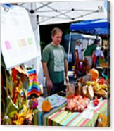Garlic Festival Vendors Acrylic Print