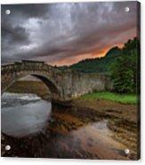Garron Bridge Sunset Acrylic Print