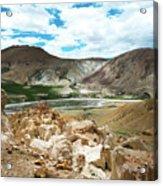 Garuda Valley Tibet Yantra.lv Acrylic Print