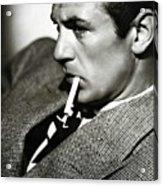 Gary Cooper Smoking C.1935 Acrylic Print