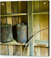 Gas Cans Long Forgotten Acrylic Print