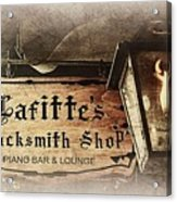 Gas Light At Lafitte's Blacksmith Shop Acrylic Print
