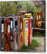 Gas Pump Conga Line In New Mexico Acrylic Print