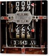 Gas Pump Meter Acrylic Print