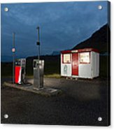 Gas Station In The Countryside, South Acrylic Print