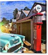 Gas Stop Acrylic Print