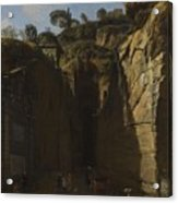 Gaspar Van Wittel  Called Vanvitelli Amersfoort 1652   1736   A View Of The Grotto At Pozzuoli With  Acrylic Print