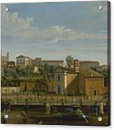 Gaspar Van Wittel  Called Vanvitelli Amersfoort 1652    1736   Rome  A View Of The Church Of Santi M Acrylic Print