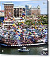 Gasparilla And Harbor Island Florida Acrylic Print
