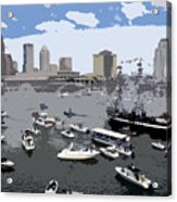 Gasparilla Invasion Work Number 3 Acrylic Print