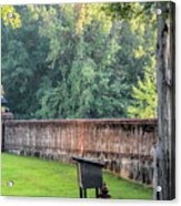 Gate And Brick Wall At Shiloh Cemetery Acrylic Print