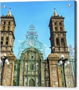 Gate And Cathedral Acrylic Print
