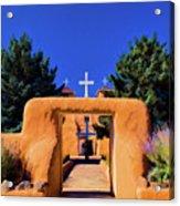 gate of church in Ranchos Acrylic Print
