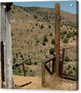 Gate Out Of Virginia City Nv Cemetery Acrylic Print