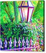 Gate With Lantern Acrylic Print