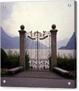 Gates At Lake Lugano Acrylic Print