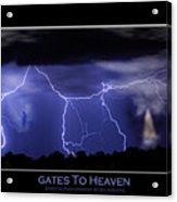 Gates To Heaven Color Poster Acrylic Print