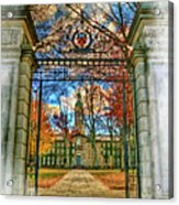Gates To Knowledge Princeton University Acrylic Print