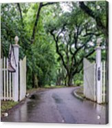 Gates To Myrtle's Plantation In La Acrylic Print