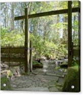 Gateway And Stone Path Acrylic Print