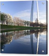 Gateway Arch And Reflection Acrylic Print