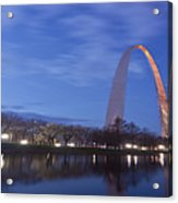 Gateway Arch At Dawn Panoramic Acrylic Print