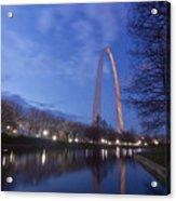 Gateway Arch At Dawn Acrylic Print