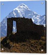 Mt Veronica And Inti Punku Sun Gate Acrylic Print