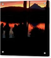 Gathered At Sunset Acrylic Print
