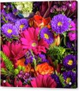Gathered Garden Flowers Acrylic Print