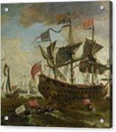 Gathering Of English Ships Acrylic Print