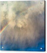 Gathering Storm And Rainbow Acrylic Print