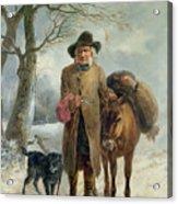 Gathering Winter Fuel  Acrylic Print by John Barker