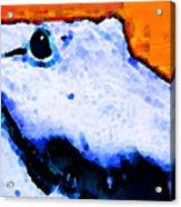 Gator Art - Swampy Acrylic Print by Sharon Cummings