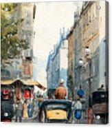 Gatubild Paris Acrylic Print