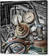 Gauges And Tanks For Cutting Torches Acrylic Print