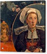 Gaugin: Belle Angele, 1889 Acrylic Print
