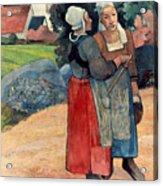 Gauguin: Breton Women, 1894 Acrylic Print