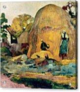Gauguin: Haystacks, 1889 Acrylic Print