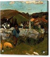 Gauguin: Swineherd, 1888 Acrylic Print