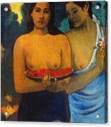 Gauguin: Two Women, 1899 Acrylic Print by Granger