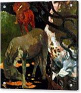 Gauguin: White Horse, 1898 Acrylic Print