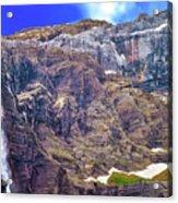 Gavarnie Circus Waterfall Acrylic Print