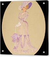 Gay 90s Lavender Woman Acrylic Print
