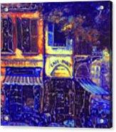 Gay Paree In Blue Acrylic Print