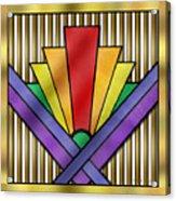 Rainbow Art Deco Acrylic Print