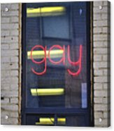 Gay Sign Acrylic Print